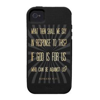 Verso Scriptural cristiano de la biblia - 8:31 de iPhone 4/4S Fundas