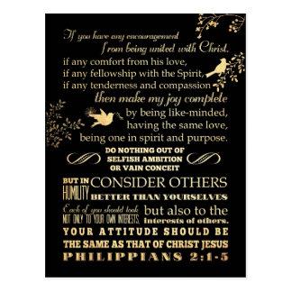 Verso Scriptural de la biblia - 2:1 de los Postal