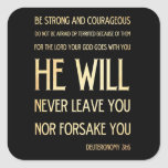 Verso Scriptural de la biblia - 31:6 de Pegatina Cuadrada
