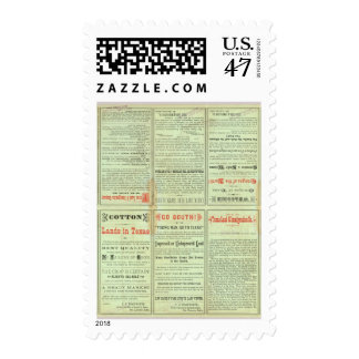 Verso State of Texas Postage Stamp