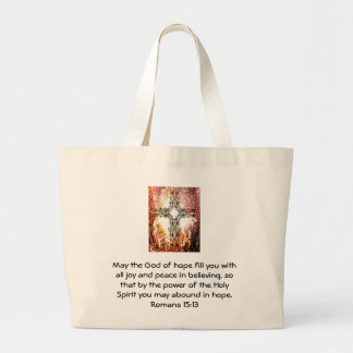Versos de la biblia que elevan 15:13 de los romano bolsa tela grande