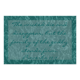 versos de la biblia sobre 12:7 de los proverbios d póster