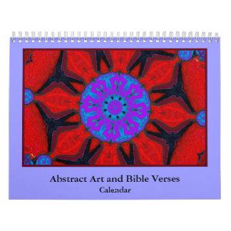 versos de la biblia y arte abstracto calendarios de pared