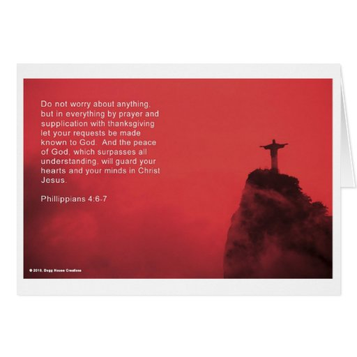 Versos de la fe tarjeta de felicitación