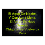 Versos De Luna Poster