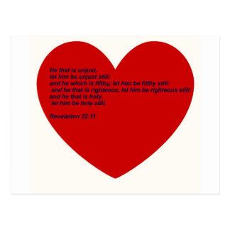 Versos duros de la biblia de los refranes postal