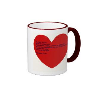 Versos duros de la biblia de los refranes taza de café