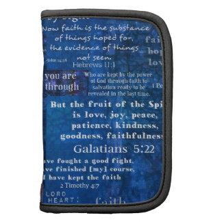 Versos inspirados de la biblia de la fe organizador