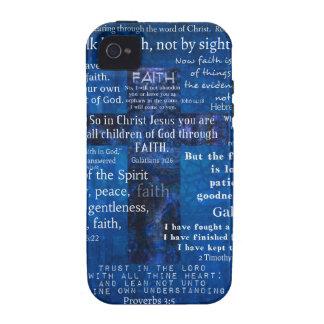 Versos inspirados de la biblia de la fe vibe iPhone 4 carcasas