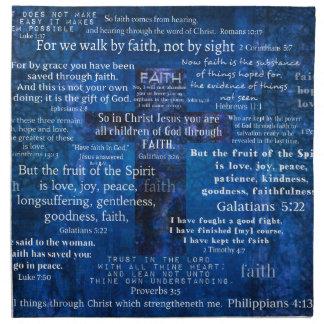 Versos inspirados de la biblia de la fe servilleta de papel