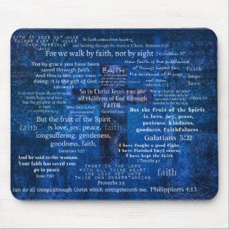 Versos inspirados de la biblia de la fe tapete de raton