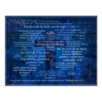 Versos inspirados de la biblia de la fe postal