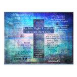 Versos preferidos de la biblia con la cruz cristia tarjetas postales
