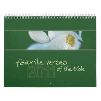 Versos preferidos del calendario 2011 de la biblia