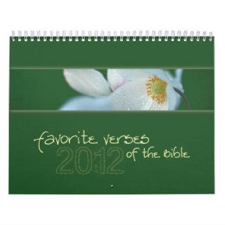Versos preferidos del calendario 2012 de la biblia