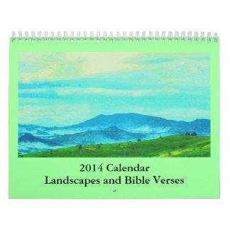 versos y paisajes de la biblia calendario de pared
