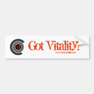 VersusVitality Got Vitality? Bumper Sticker