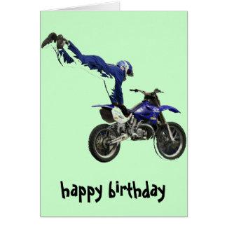 vert aéreo del col de la tarjeta del motocrós #3