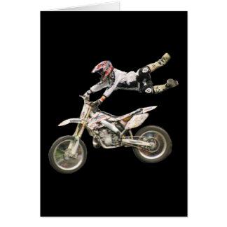 vert aéreo del espacio en blanco #1 del motocrós tarjeta de felicitación
