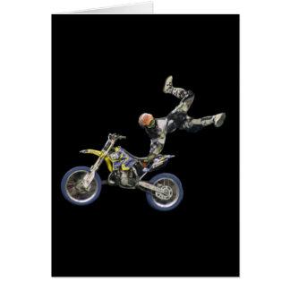 vert aéreo del espacio en blanco #2 del motocrós tarjeta de felicitación