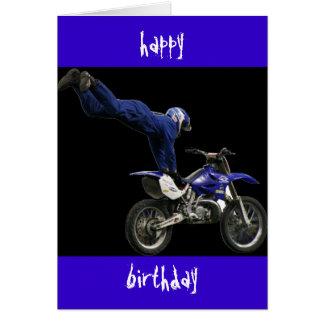 vert aéreo del motocrós #3 tarjeta de felicitación
