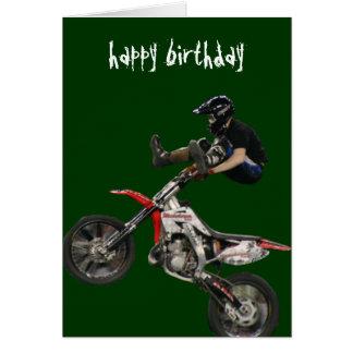 vert aéreo del motocrós #6 tarjeta de felicitación