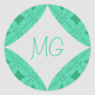 vert pattern classic round sticker