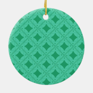 vert patterns ceramic ornament