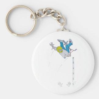 Vert Rider Basic Round Button Keychain