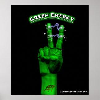 Vert-TshirtGreenHand Poster