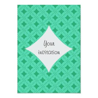 vert turquoise patterns card