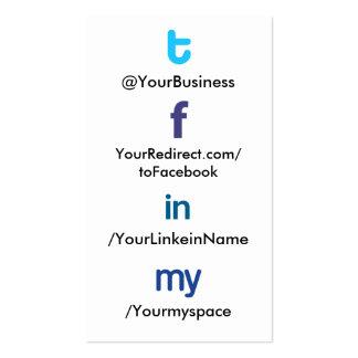 Vertblankbak social del tflm 2,0 de la tarjeta de  tarjetas de visita