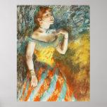 Verte de Chanteuse del La de Edgar Degas Poster