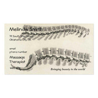 Vertebrae Drawing Business Card Templates