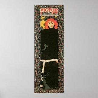 "Vertical 12"" del nouveau del arte del vintage x 36 posters"