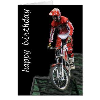 vertical aérea del moto #5 tarjeta de felicitación