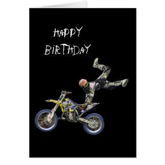 vertical aérea del motocrós #2 tarjeta de felicitación