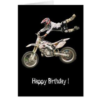 vertical aérea del motocrós #4 tarjeta de felicitación