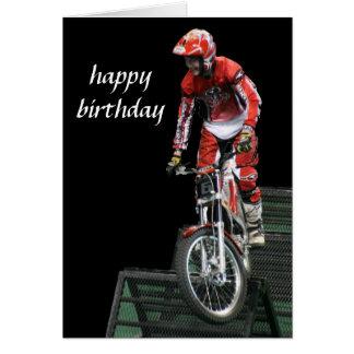 vertical aérea del motocrós #5 tarjeta de felicitación