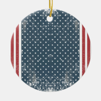 vertical american flag ceramic ornament