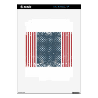 vertical american flag decal for iPad 2