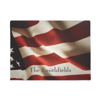 Vertical American flag Doormat