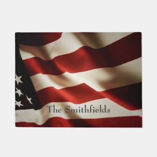 Vertical American flag Doormat