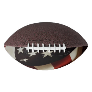 Vertical American flag Football