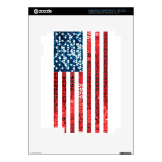 vertical american flag iPad 3 decals