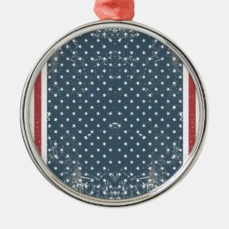 vertical american flag metal ornament