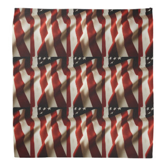 Vertical American flag tiled Bandana