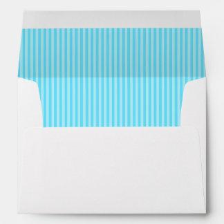Vertical Aqua Stripes Lined Envelope