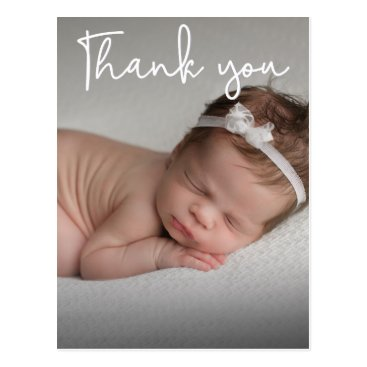 Vertical Baby  Birth Announcement and Thank You Postcard