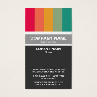 Vertical Banded - Color bars 01 Business Card
